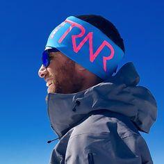 Azure blue & Pink headband / panneband / pannebånd / pannband
