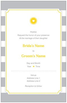 Modern Gray Vertical Flat Wedding Invitations, Stripe Vertical Flat Wedding Invitations | Vistaprint (10 for $7)