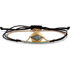 IAM by Ileana Makri Bara and Evil Eye set of two gold-plated, 10-karat... ($670) ❤ liked on Polyvore