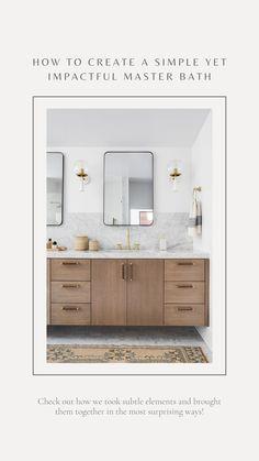 Ikea Bathroom Vanity, Bathroom Vanity Designs, Brown Bathroom, Laundry In Bathroom, Modern Bathroom Design, Bathroom Interior Design, Small Bathroom, Master Bathroom, Weatherboard House