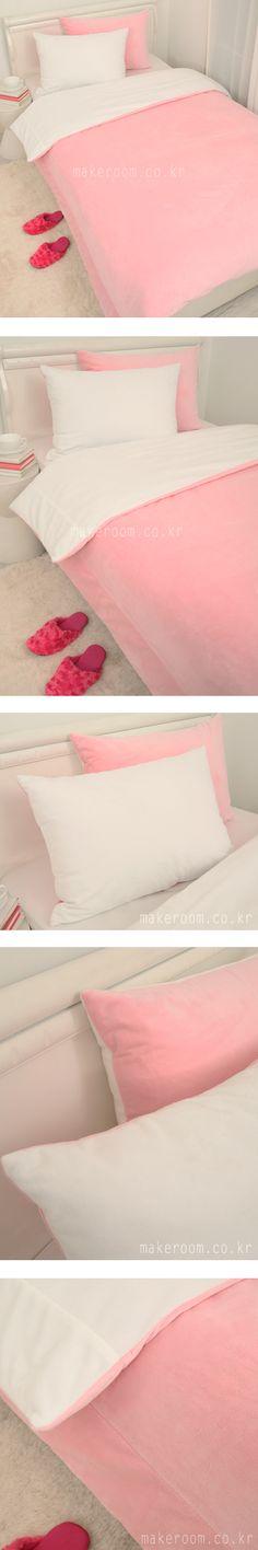 메이크룸 [극세사 솔리드 침구(pink)]