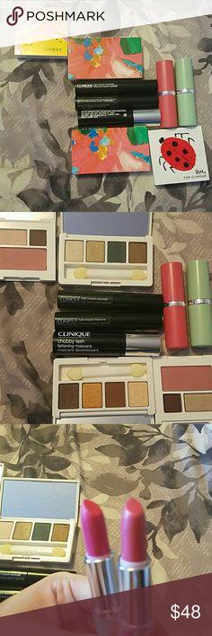 Clinique bundle Bundle lf 4 travel palettes, 3 mascaras and 2 lipsticks Makeup Eyeshadow