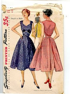 Vintage 1950s Dress Pattern McCall's 3769 by VioletCrownEmporium, $16.00