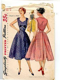 Vintage 1950s Dress Pattern McCall's 3769 by VioletCrownEmporium, $16.00