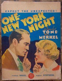 'One New York Night', 1935, Franchot Tone and Una Merkel
