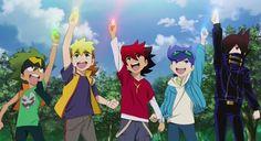 Tenkai Knights - Left to right.... Toxsa, Chooki, Guren, Ceylan, and Gen