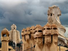 Casa Mila rooftop (Gaudi) - Barcelona... it was what a beautiful place to visit and see...