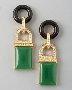 Rachel Zoe Drop Earrings, Green Quartz - We know you've admired Rachel Zoe's impeccable taste for vintage pieces of jewelry. Now you can create your own treasure chest with the celebrity stylist's premiere collection of inspired baubles that speak to retro glamour in a modern way.