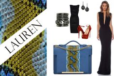 For exquisite moments, choose a royal blue handbag with snakeskin insertions @wil