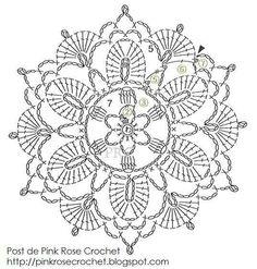 Fancy crochet dolly diagram
