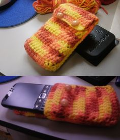 Crochet celphone cover! (fundita para celular de crochet SUPERFACIL