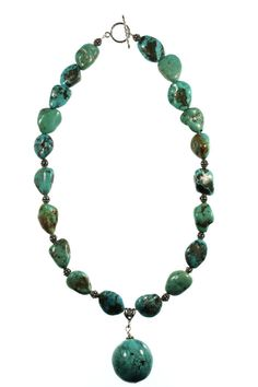 """Turquoise Nugget Necklace by ClassyGemsByCarol on Etsy.  ****Don't miss this opportunity! Take 15% off your entire purchase.**** Enter """"VALENTINE"""" at checkout to receive the discount. Offer expires February 16, 2015."""