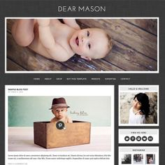 Blogger Template  Premade blog design INSTANT by NudgeMediaDesign, $35.00