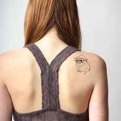 High quality fashionable temporary tattoos that look real by tattify.com. Pugs pugs ❤️