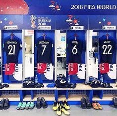 Le vestiaire est prêt #frabel #france #griezmann #pogba #worldcup2018 #worldcup #football