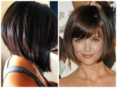 inverted bob | Short Inverted Bob Hairstyles With Bangs Inverted bobs with light