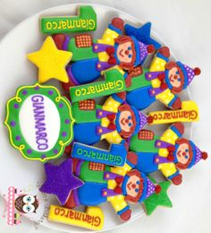 Gymboree Gymbo Cookies, clown cookies, Gymboree party, first birthday party