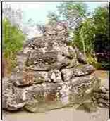 Ganesha Temples, Ratu Boko 9thC, incomplete statue, Indonesia