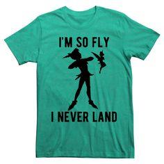 Peter Pan Men's I'm So Fly I Never Land T-Shirt Green Xxl