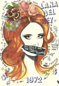 Lana illustration/collage