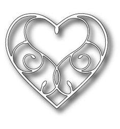 Memory Box Dies - Silverdale Heart - 98454