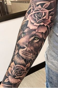 lion tattoo for women / lion tattoo _ lion tattoo for women _ lion tattoo design _ lion tattoo men _ lion tattoo sleeves _ lion tattoo small _ lion tattoo for women sleeve _ lion tattoo for women arm Forarm Tattoos, Forearm Sleeve Tattoos, Dope Tattoos, Best Sleeve Tattoos, Girl Tattoos, Tiger Forearm Tattoo, Key Tattoos, Skull Tattoos, Tribal Tattoos