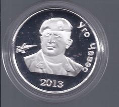 УГО ЧАВЕС ~ HUGO CHAVEZ COIN ~ SOUTH OSETTIA ~ GEORGIA 1 RUBLE Moneda de 1 Rublo de Georgia ~ Hugo Chavez Frias  2012