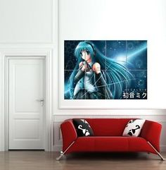 Anime Wall Posters | Details about HATSUNE MIKU ANIME GIANT WALL POSTER ART PRINT B1076
