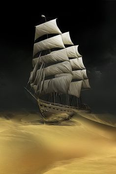 Boat in The Desert iphone wallpapers.