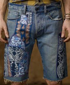 Shorts, Slim Denim Shorts