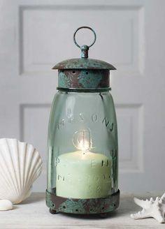 Quart Mason Jar Lantern - Keel's Cottage