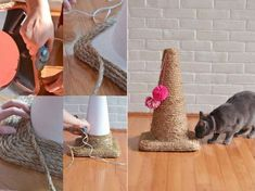 18 super jouets DIY pour chats et chiens - Guide Astuces You are in the right place about funny Cat Kitten Toys, Cat Toys, Cat Whisperer, F2 Savannah Cat, Homemade Toys, Cat Accessories, Scratching Post, Litter Box, Diy Stuffed Animals