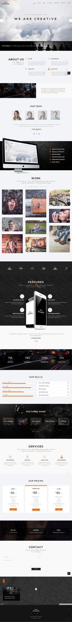 Oreades – Creative One-Page WordPress Theme #html5 #responsivedesign #wordpressthemes #wordpresstemplates