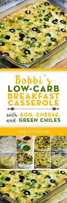 Bobbi's Low-Carb Breakfast Casserole with Egg, Cheese, and Green Chiles was adapted slightly from a recipe I got from my step-sister Bobbi, and the addition of cottage cheese makes this especially high in protein. It's also low-carb, Keto, low-glycemic, gluten-free, meatless, and South Beach Diet friendly. And this is delicious; I like it with my favorite Greek Tabasco Sauce! [from KalynsKitchen.com]