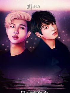 BTS Fanart || Kim Namjoon (RapMonster) & Jeon Jungkook | Fools by eto-nani