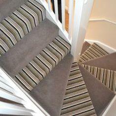 Artwork stripe carpet 02 Striped Carpets, Amtico, Small Hallways, Luxury Vinyl Tile, Carpet Stairs, Hallway Decorating, Home Decor Items, Stairways, Color Schemes