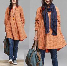 Autumn Patchwork irregular gray longsleeved shirt / by dreamyil