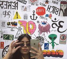 Graffiti Lettering, Graffiti Art, Bedroom Murals, Bedroom Decor, Baby Pink Aesthetic, Grunge Room, Wall Drawing, Teen Room Decor, Room Goals