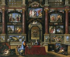 Coques,_Gonzales_-_Interior_with_figures_before_a_picture_collection_-_1672,_1706