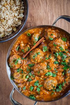 Tunisian meatballs, a mediterranean meatball recipe. Photo and recipe by Irvin Lin of @eatthelove