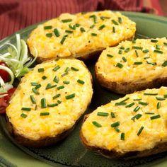 Twice-Baked Garlic Potatoes
