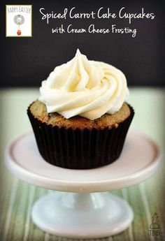 Spiced Carrot Cake Cupcakes with Cream Cheese Frosting- True Blue Baking