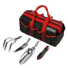 5 pc. Interchangeable Garden Tool Set w/ Tool Bag