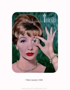 Trifari vintage jewelry ad