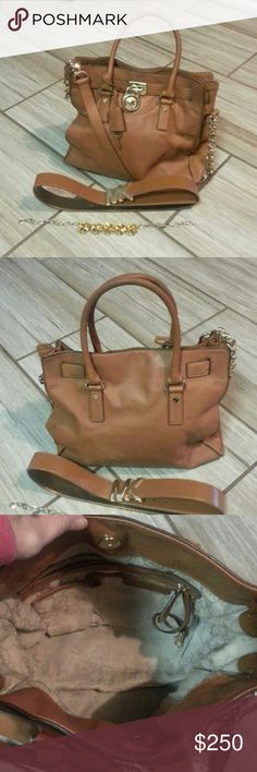 Authentic Michael Kors  large hamilton Tan leather great condition. Michael Kors Bags Satchels