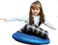 """Work and improve your core muscle recruitment and a new range of challenging exercises with the 23"""" Tactile Air Cushion. http://www.sensoryedge.com/large-tactile-air-cushion.html"""