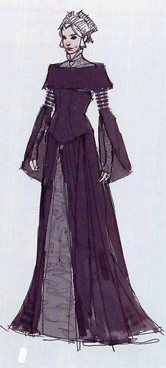 Star Wars Padme Amidala Packing Dress - Original Concept Art Star Wars Art d7a01e79e