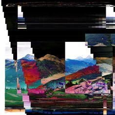 Mixed realities #glitch #glitchart #photomanipulation #switzerland  #emmetten #emmettenstockhütte #vierwaldstättersee