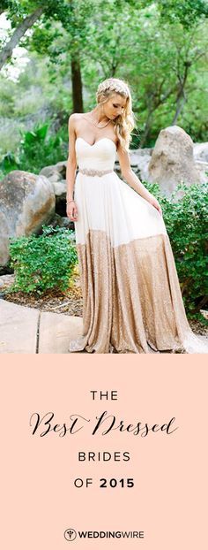 The 20 Best Dressed Real Brides of 2015 - see them all and get inspiration for your wedding dress on @weddingwire! {Suzy Goodrick Photography}