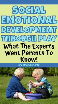 """Social skills activities for preschoolers play an important role in their development. However, social emotional development can happen through play too. You don't even need to set up specific """"learning activities"""". Here is what experts want parents to know about the role of play in social emotional development! Preschool Learning Toys, Play Based Learning, Learning Through Play, Learning Activities, Social Skills Activities, Sensory Activities, Infant Activities, Social Emotional Development, Toddler Development"""